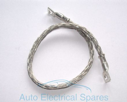 braided engine earth strap 450mm ROUND profile